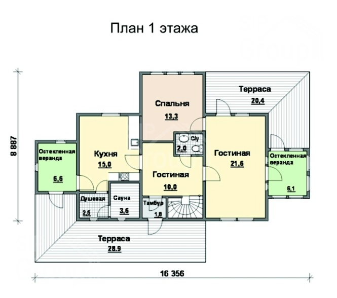 """Проект дома из СИП панелей """"Империя"""" - планировка"""