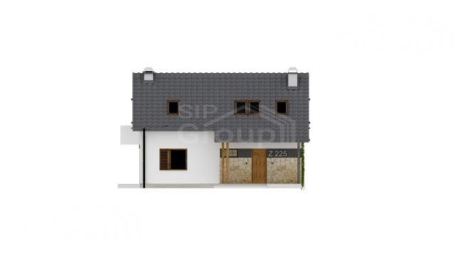 """Проект дома из СИП панелей """"Основательный"""" - фасад"""