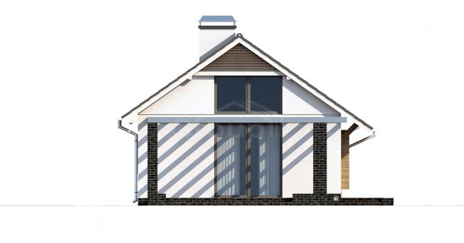 "Проект одноэтажного дома из СИП панелей ""Бамби"" - фасад"