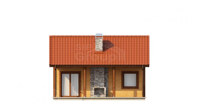 """Проект дачного дома из СИП панелей """"Дачный"""" - фасад"""