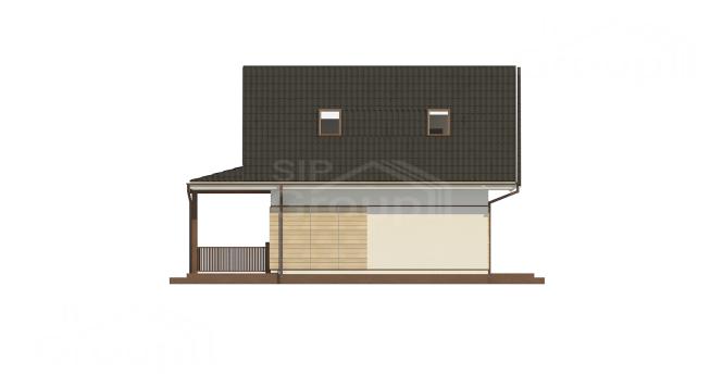 """Проект дома из СИП панелей """"Конфетка"""" - фасад"""