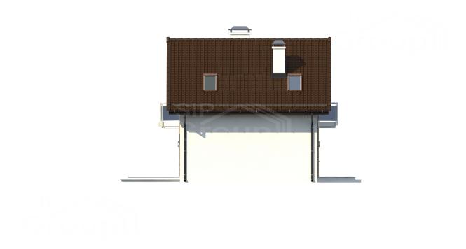 """Проект дома из СИП панелей """"Квадро"""" - фасад"""