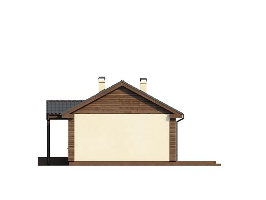 """Проект одноэтажного дома из СИП панелей """"Ласточка"""" - фасад"""