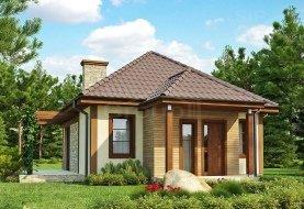 """Проект небольшого дома из СИП панелей """"Лесной"""""""
