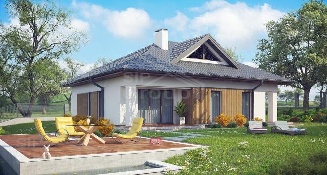 """Проект одноэтажного дома из СИП панелей """"Нова"""""""