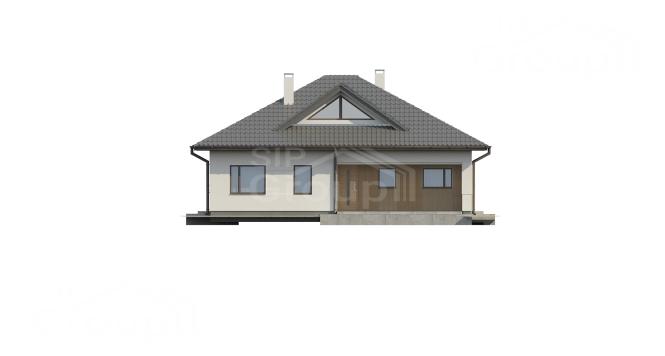 """Проект одноэтажного дома из СИП панелей """"Нова"""" - фасад"""
