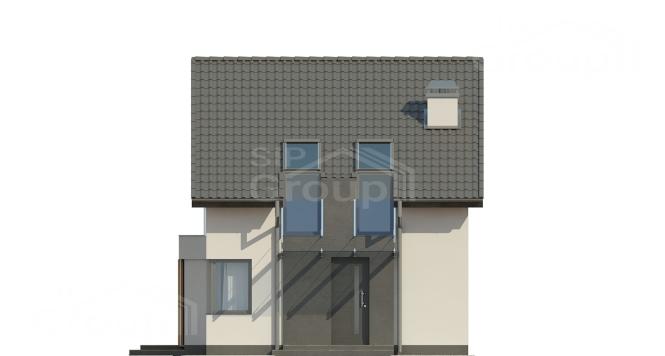 """Проект дома из СИП панелей с мансардой """"Стильный"""" - фасад"""