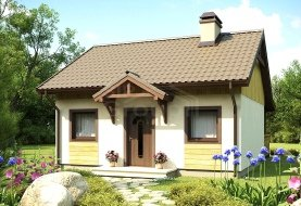 """Проект одноэтажного дома из СИП панелей """"Уютный"""""""