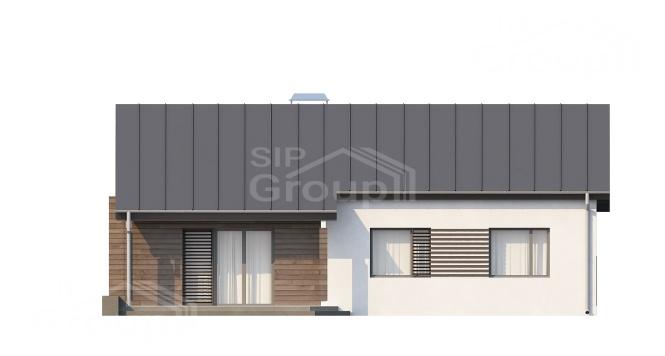 """Проект одноэтажного дома из СИП панелей """"Амброзия"""" - фасад"""