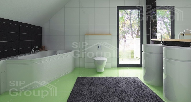 """Проект дома из СИП панелей с мансардным этажом """"Барселона"""" - фото интерьера"""