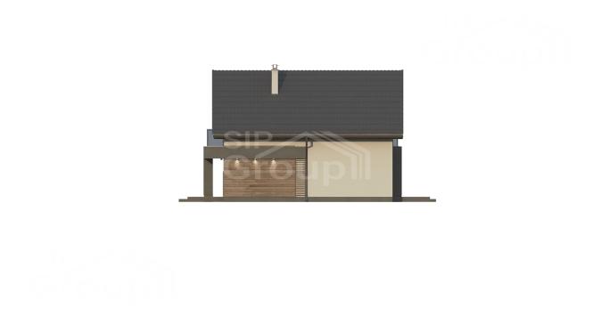 """Проект дома из СИП панелей с мансардным этажом """"Барселона"""" - фасад"""