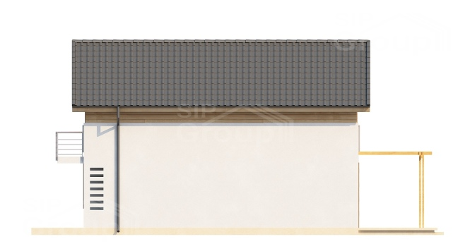 "Проект дома из СИП панелей ""Гармония"" - фасад"