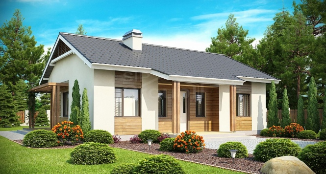 """Проект одноэтажного дома из СИП панелей """"Южный"""""""