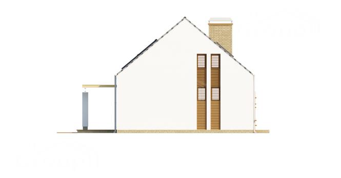 """Проект дома из СИП панелей """"Лео"""" - фасад"""