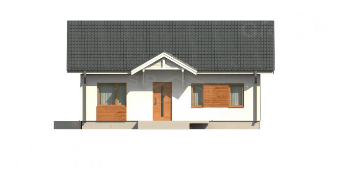 """Проект одноэтажного дома из СИП панелей в традиционном стиле """"Магнолия"""" - фасад"""