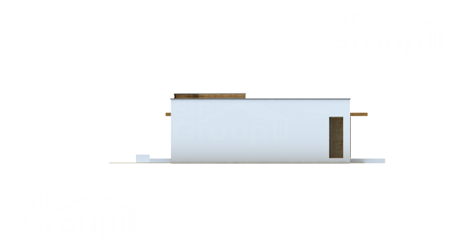 """Проект одноэтажного дома из СИП панелей """"Малибу-2"""" - фасад"""