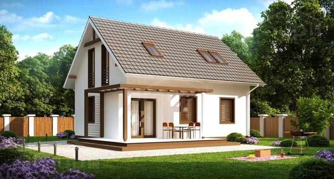 "Проект мансардного дома из СИП панелей ""Марика"""