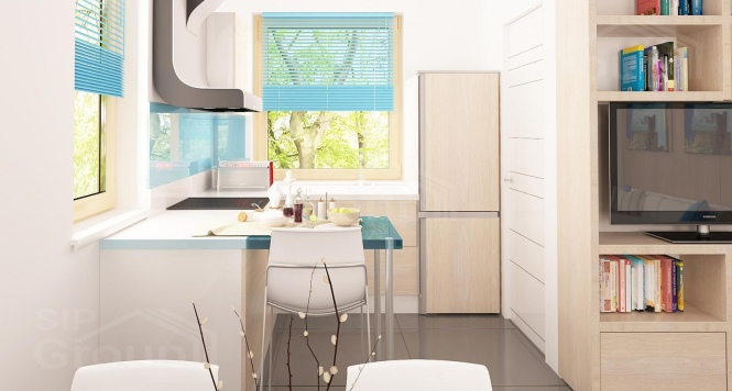"""Проект мансардного дома из СИП панелей """"Марика"""" - фото интерьера"""