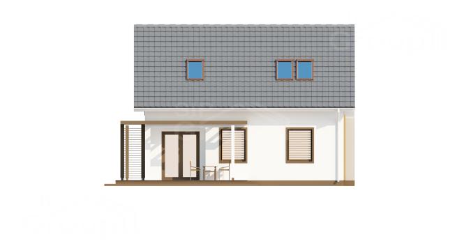 "Проект мансардного дома из СИП панелей ""Марика"" - фасад"