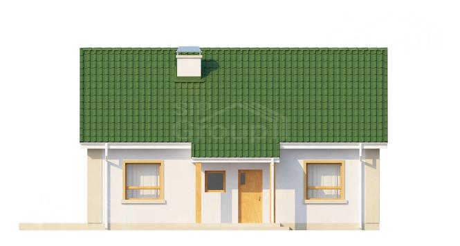 """Проект одноэтажного дома с мансардой из СИП панелей """"Незабудка"""" - фасад"""