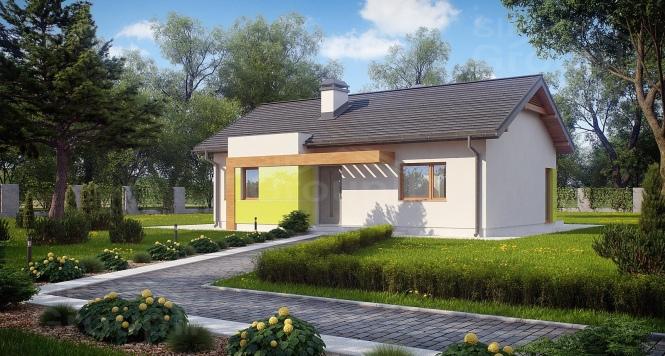 """Проект одноэтажного дома из СИП панелей """"Открытый"""""""