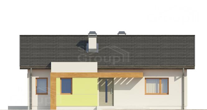 """Проект одноэтажного дома из СИП панелей """"Открытый"""" - фасад"""