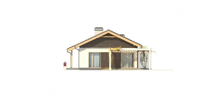 """Проект одноэтажного дома из СИП панелей с гаражом """"Санторини"""" - фасад"""