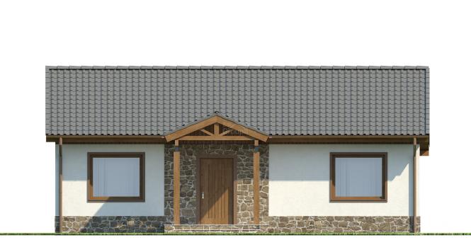 "Проект дома из СИП панелей ""Шале"" - фасад"