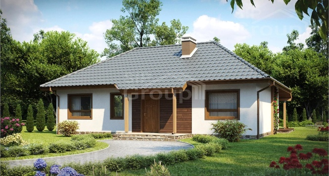 """Проект одноэтажного дома из СИП панелей """"Скандинавия"""""""