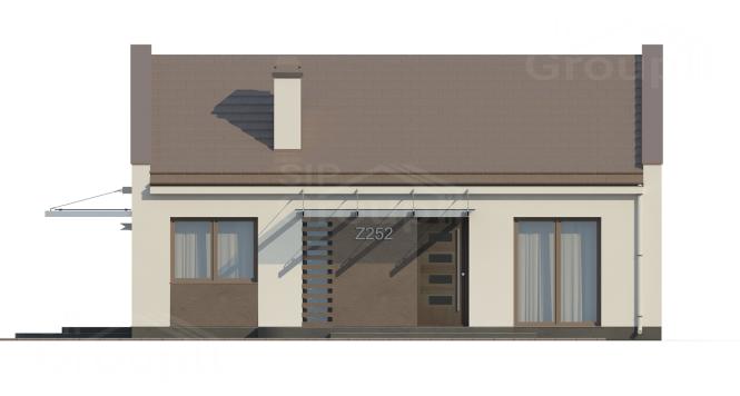 """Проект одноэтажного дома из СИП панелей """"Современный"""" - фасад"""