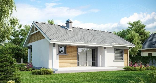 """Проект одноэтажного дома из СИП панелей """"Спокойный"""""""