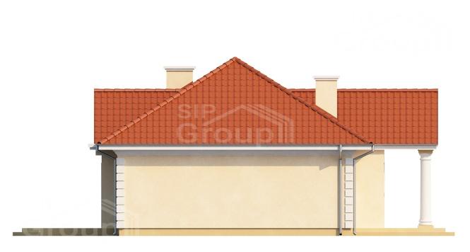 """Проект одноэтажного дома из СИП панелей """"Усадьба"""" - фасад"""