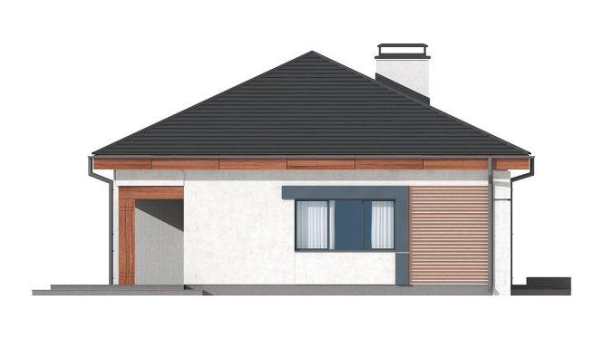 Проект одноэтажного дома из СИП панелей №94 - фасад