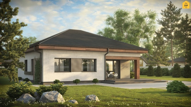 Проект одноэтажного дома из СИП панелей №94