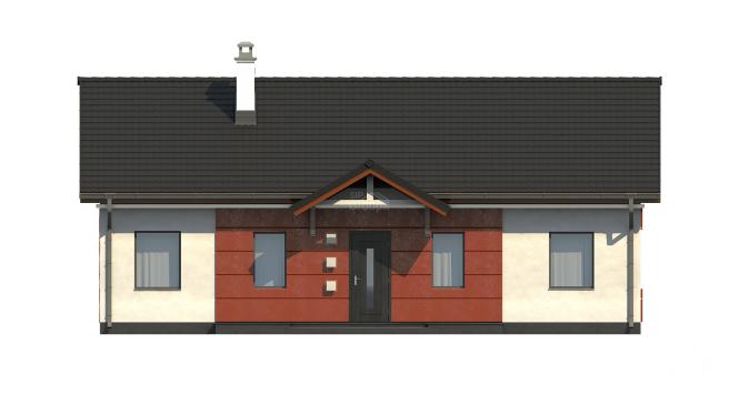 """Проект одноэтажного дома из СИП панелей """"Аккуратный"""" - фасад"""