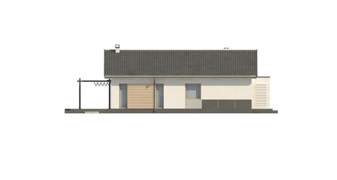 """Проект компактного одноэтажного дома из СИП панелей """"Аметист"""" - фасад"""