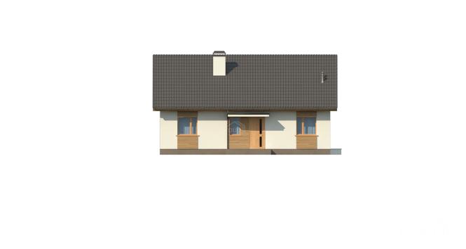 """Проект одноэтажного дома из СИП панелей """"Мечта"""" - фасад"""
