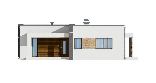 """Проект дома из СИП панелей в стиле хай-тек """"Модерн"""" - фасад"""