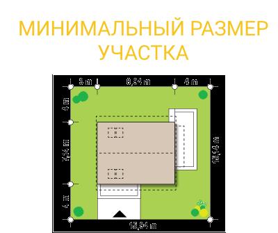"""Проект дома из СИП панелей """"Афродита"""" - минимальный размер участка"""