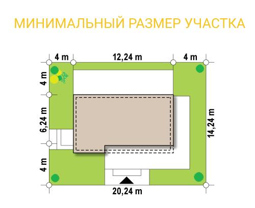 """Кафе из СИП панелей """"Кафеус"""" - минимальный размер участка"""