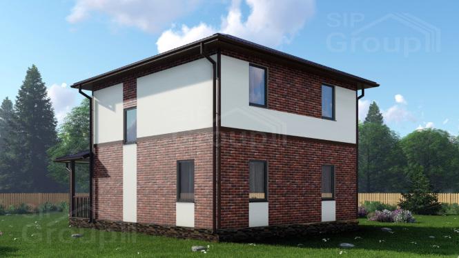 """Проект дома из СИП панелей """"Бристоль"""""""